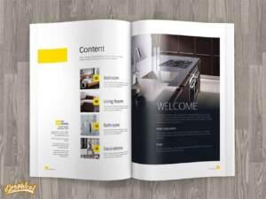 طراحی صفحات داخلی کاتالوگ