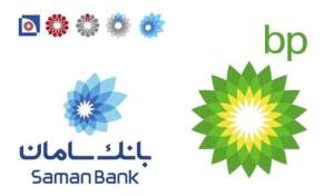 لوگو بانک سامان و بریتیش پترولیوم