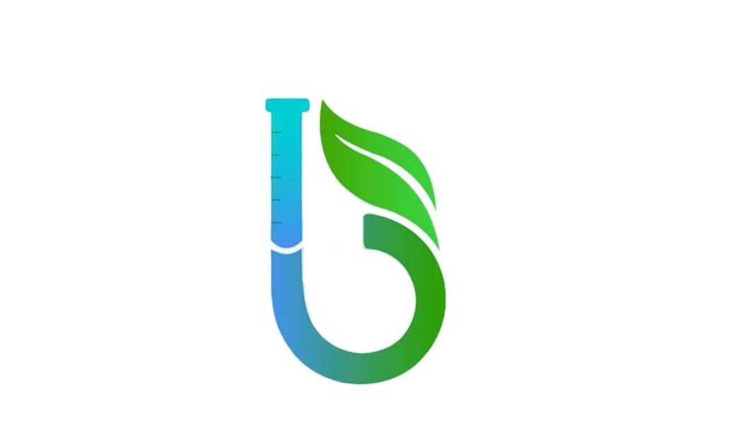 ترکیب حرف b، برگ و لوله آزمایش