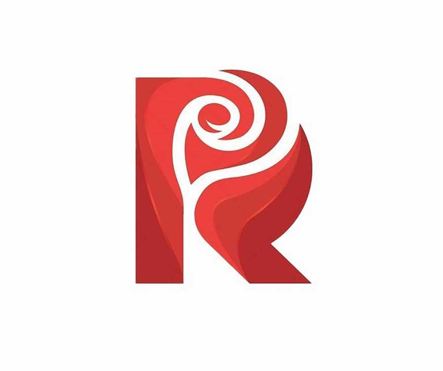 ترکیب گل رز و حرف R