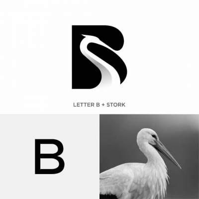 طراحی خلاقانه لوگو b